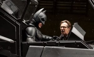 Even superhero's need allies. Here Batman enlists the help of Commissioner Gordon to save Gotham.
