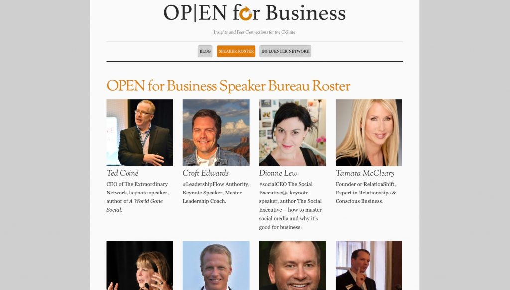Tamara McCleary Joins OPEN For Business Speaker Bureau