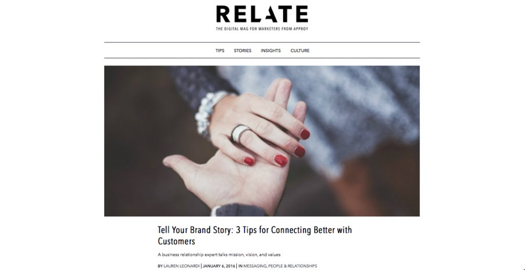 Tell Your Brand Story: 3 Tips for Connecting Better with Customers